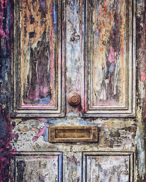 Mail Slot Photograph - London Photography - The Colorful Door by Lisa Russo