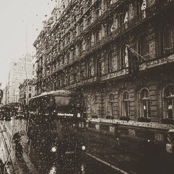 Bus Photograph - London Rain by Trystan Oldfield