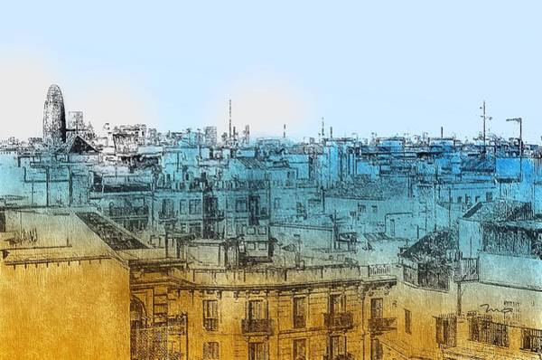 Painting - London Rooftops by Mark Taylor
