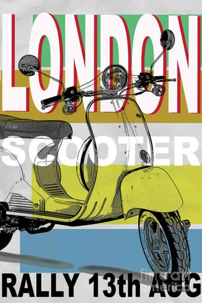 Digital Art - London Scooter Rally by Edward Fielding