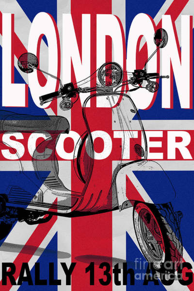 Photograph - London Scooter Rally Poster by Edward Fielding