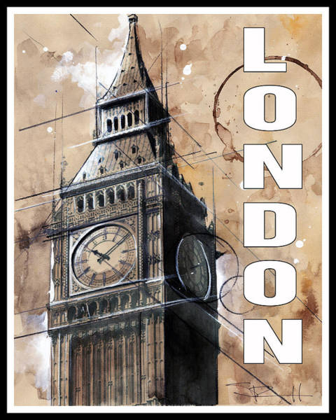 Painting - London by Sean Parnell