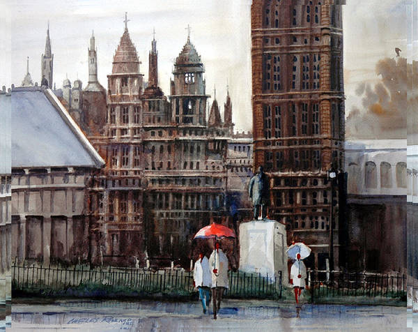Painting - London Showers by Charles Rowland