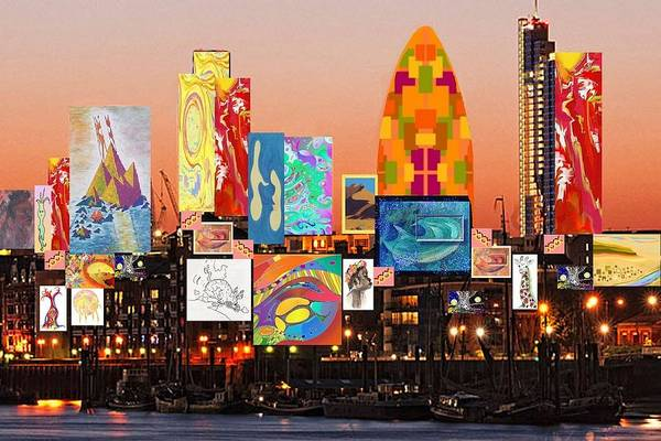 Digital Art - London Skyline Collage 2 by Julia Woodman