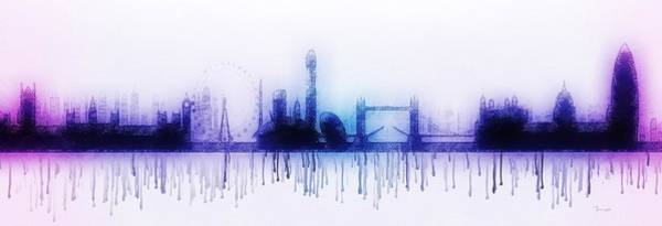 Painting - London Skyline by Mark Taylor