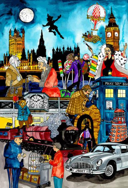 101 Digital Art - London Storytime by Terri Kelleher