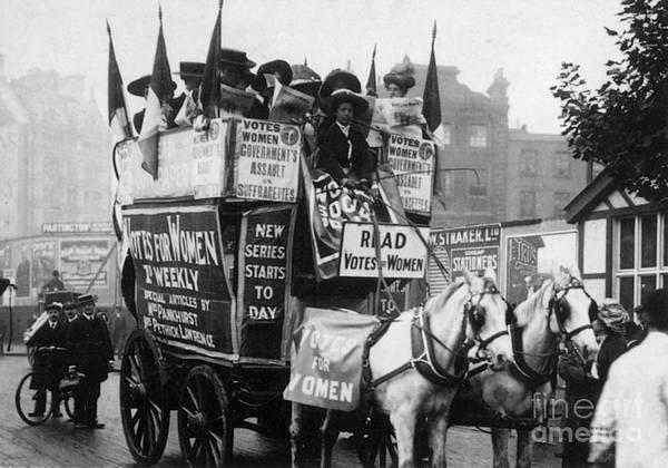 Photograph - London: Suffragettes, 1909 by Granger