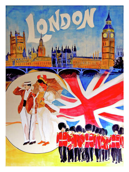 Wall Art - Painting - London, Tour Attractions, Vintage Travel Poster by Long Shot