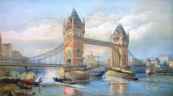 Painting - London: Tower Bridge, 1895 by Granger