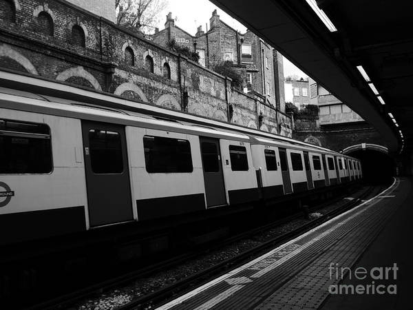 Photograph - London Tube by Lexa Harpell