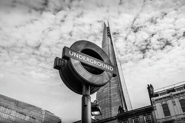 Capital Of Georgia Photograph - London Underground In Mono by Georgia Fowler