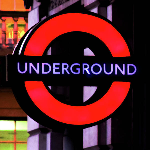 Street Sign Photograph - London Underground Sign by Tony Grider