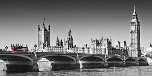 Wall Art - Photograph - London Westminster Bridge Panoramic by Melanie Viola