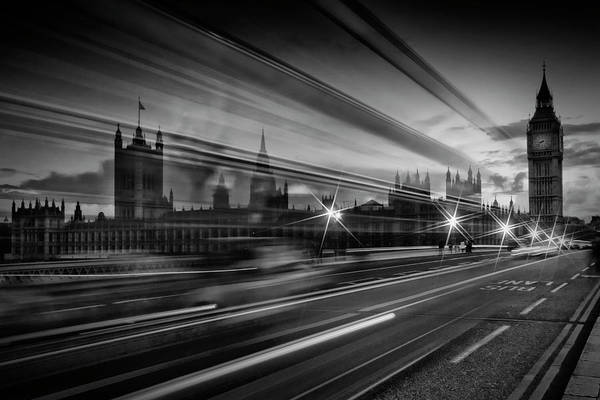 London Westminster Bridge Traffic Art Print