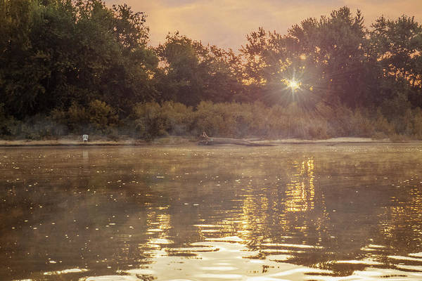 Photograph - Chair On The Early Morning River by Patti Deters