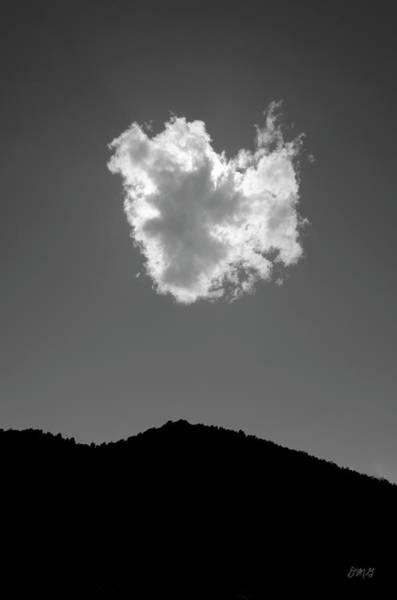 Photograph - Lone Cloud Bw by David Gordon