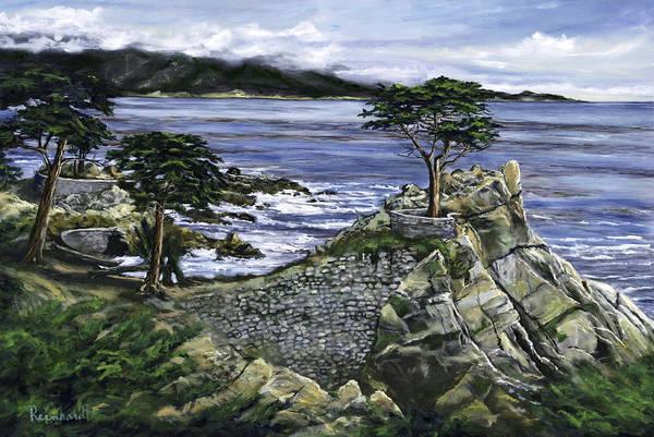 Wall Art - Painting - Lone Cypress by Lisa Reinhardt