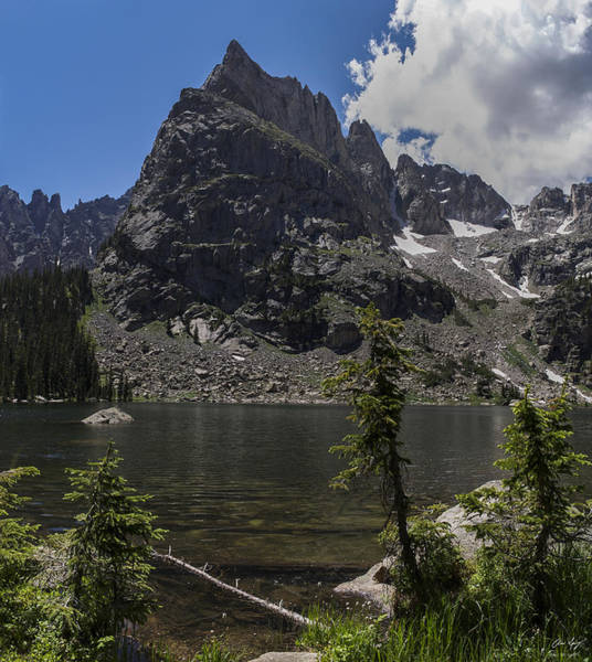 Indian Peaks Wilderness Photograph - Lone Eagle Peak From Crater Lake by Aaron Spong