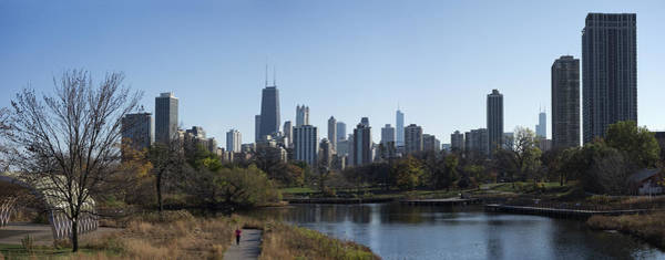 Wall Art - Photograph - Lone Exerciser Of Lincoln Park - Chicago by Daniel Hagerman