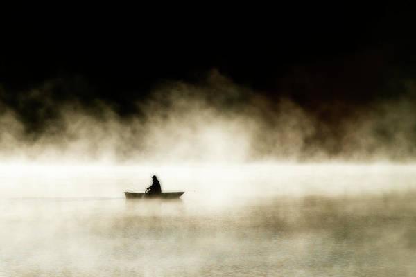 Photograph - Lone Fisherman On A Lake by Dan Friend