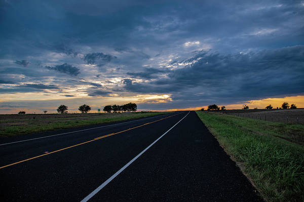 Photograph - Lone Highway At Sunset by Gaylon Yancy
