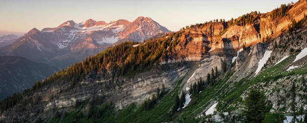 Lone Peak Wilderness Panorama Art Print