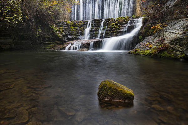 Photograph - Lone Rock At The Falls by Joe Sparks