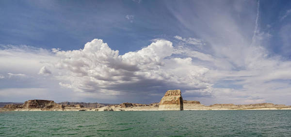 Photograph - Lone Rock Landscape by Leda Robertson