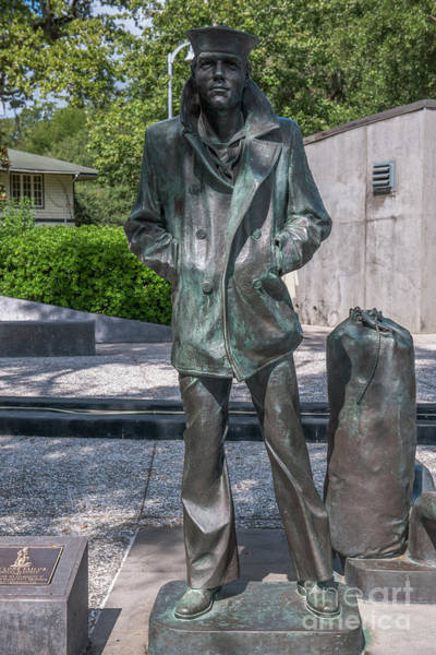 Photograph - Lone Sailor Statue In North Charleston South Carolina  by Dale Powell