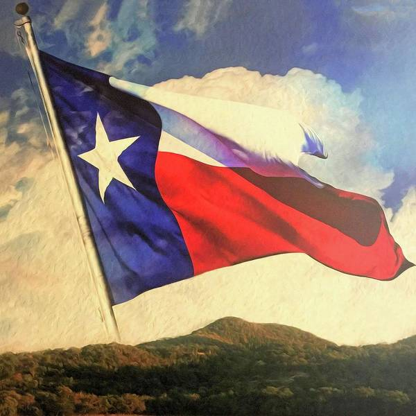 Painting - Lone Star Over The Hill Country by Troy Caperton