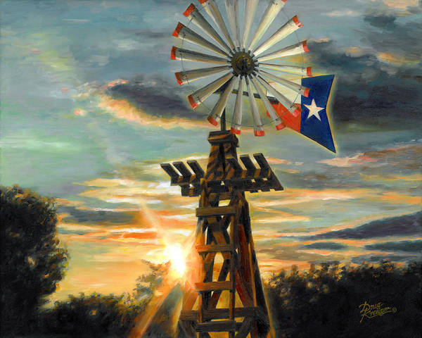 Lone Star Painting - Lone Star Sky by Doug Kreuger