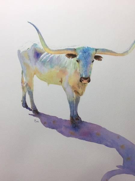 Longhorn Painting - Lone Star Steer by Valerie Coe