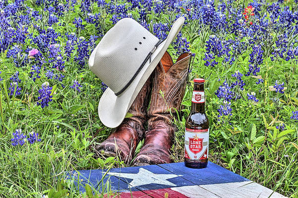 Wall Art - Photograph - Lone Star The Beer Of Texas by JC Findley