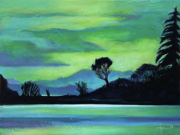 Painting - Lone Tree On The Salish Sea by Angela Treat Lyon