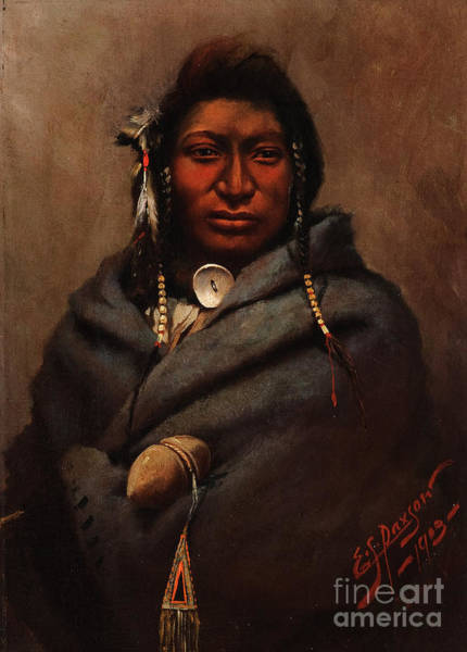 Native American Culture Painting - Lone Wolf  by Celestial Images