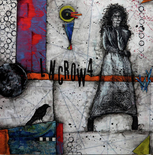Triangle Mixed Media - Lonecrow by Laura Lein-Svencner