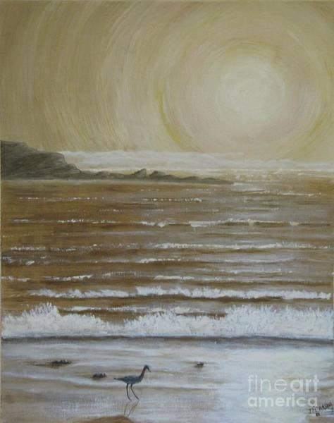 Wall Art - Painting - Lonely Beach Sunrise by Dana Carroll