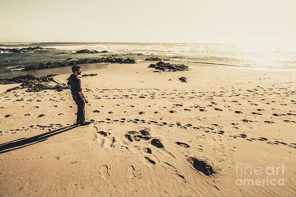 Trial Harbour Wall Art - Photograph - Lonely Beach Sunset by Jorgo Photography - Wall Art Gallery