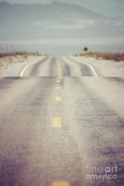 Wall Art - Photograph - Lonely Desert Highway Road by Edward Fielding