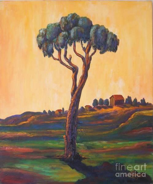 Lonely Eucalyptus Art Print by Ushangi Kumelashvili
