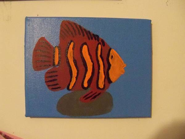 Wall Art - Painting - Lonely Fish by Rhonda Jackson