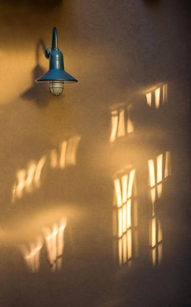 Photograph - Lonely Lamp Among Sunrise Window Light Reflections by Gary Slawsky