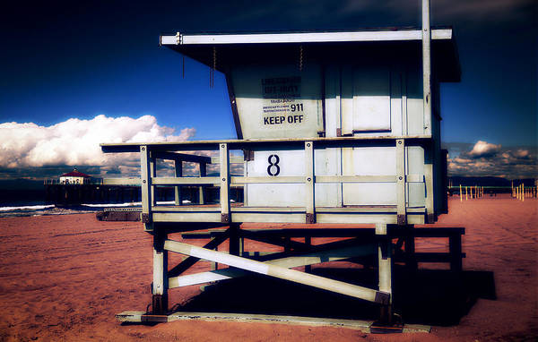 Photograph - Lonely Life Guard by Michael Hope