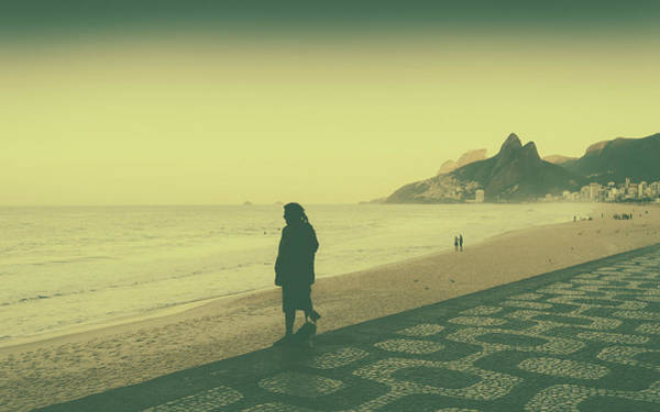 Photograph - Lonely Man On The Beach by Alexandre Rotenberg