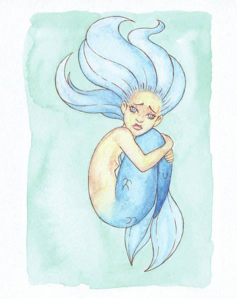 Inking Painting - Lonely Mermaid - Mermay 2018 by Armando Elizondo