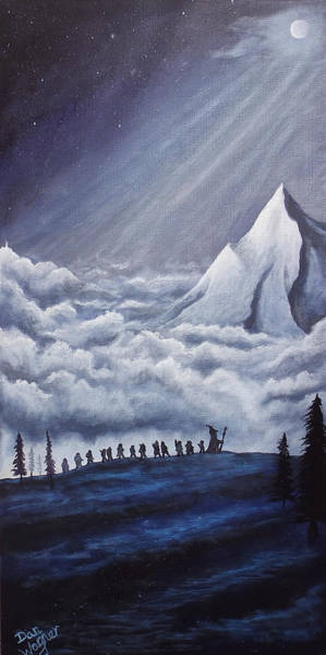 Painting - Lonely Mountain by Dan Wagner