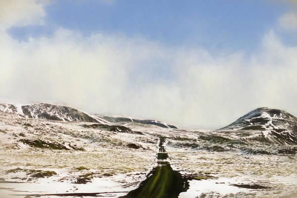 Icelandic Digital Art - Lonely Road by Roy Pedersen
