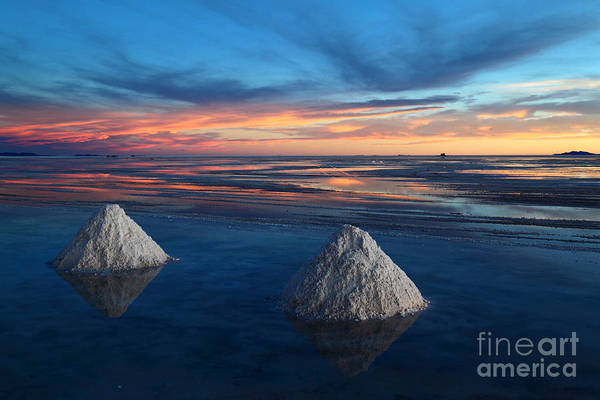 Photograph - Lonely Salt Cones by James Brunker