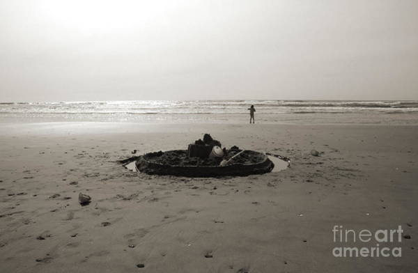 Photograph - Lonely Sandcastle - Toned by Kathi Shotwell