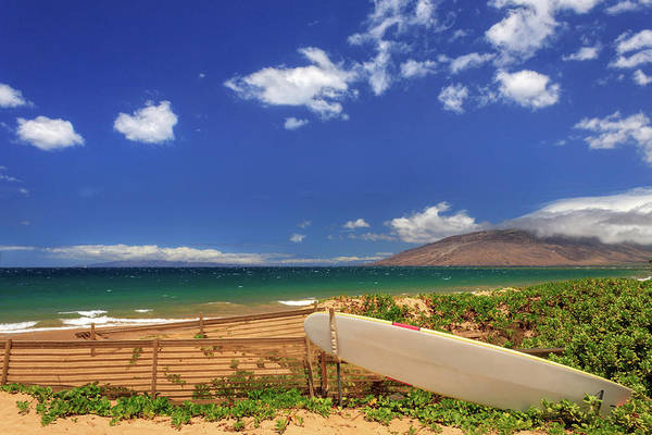 Surfboard Fence Photograph - Lonely Surfboard by James Eddy